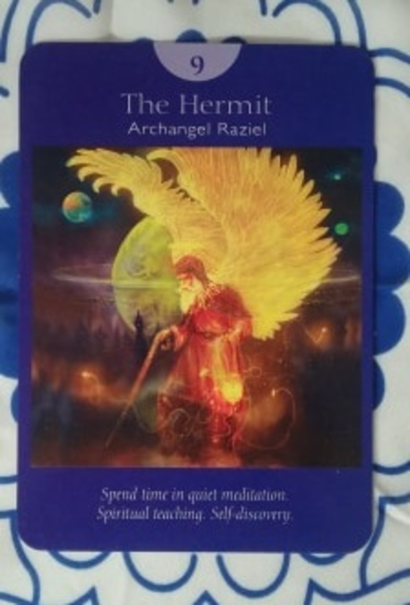 hermit, tarot  - A Card for COVID19